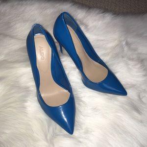 Blue Aldo Heels